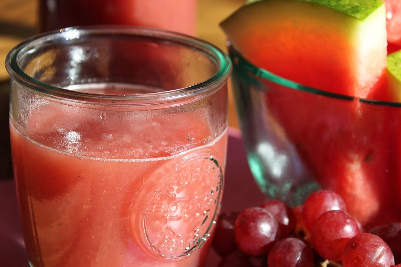 Juice of almonds, melon, and grapes