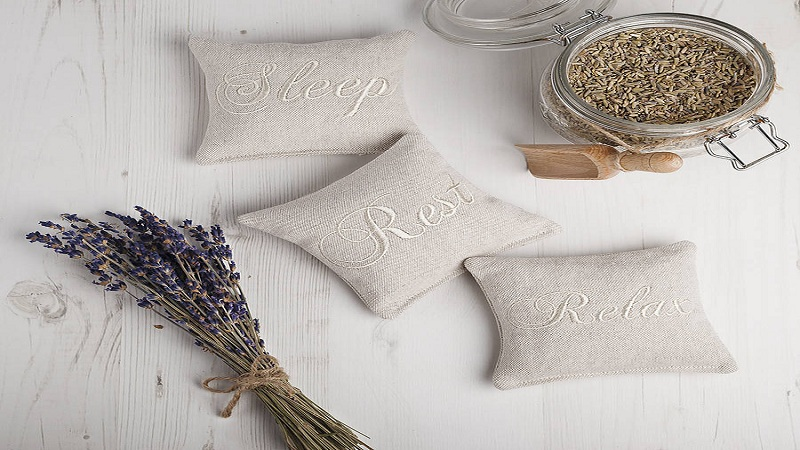 Essence of lavender on the pillow to sleep easily and better