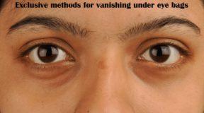Methods for vanishing under eye bags