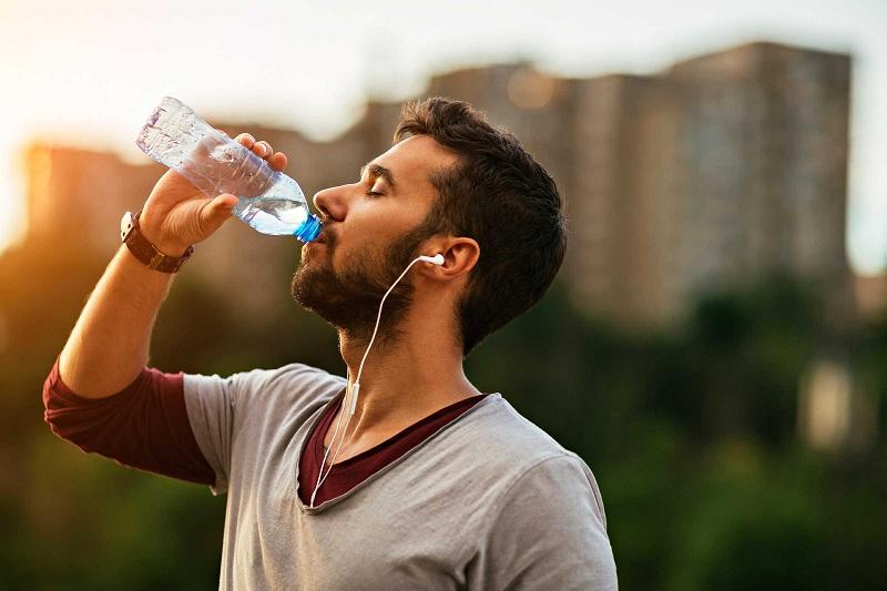 Habit of drinking lots of water
