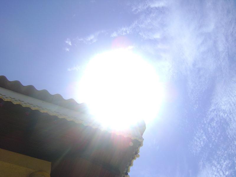 Avoid the sun at noon