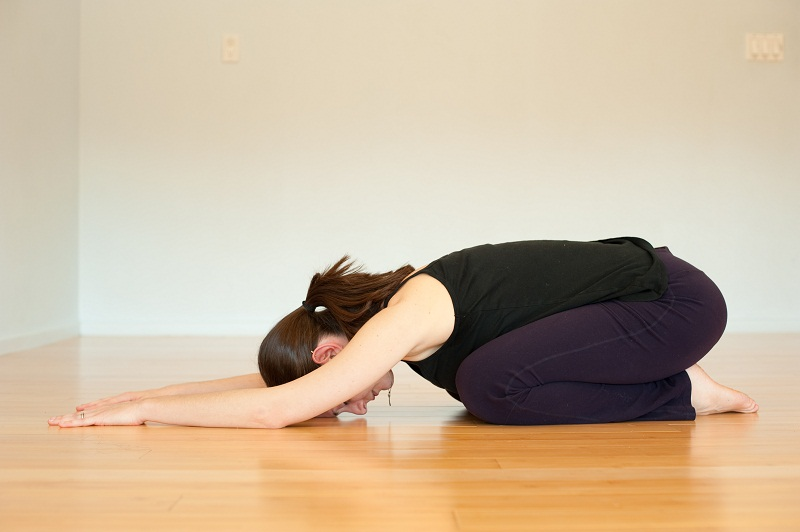 Balasana or child's posture