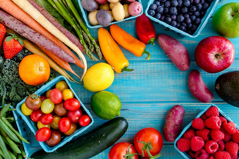 Fruits and vegetables to gain muscle mass