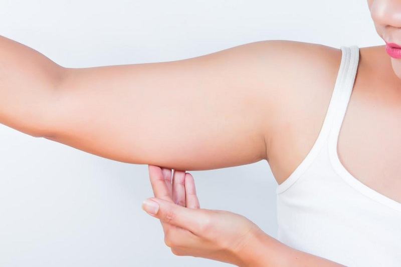 How to get rid of arms fat with food and exercise